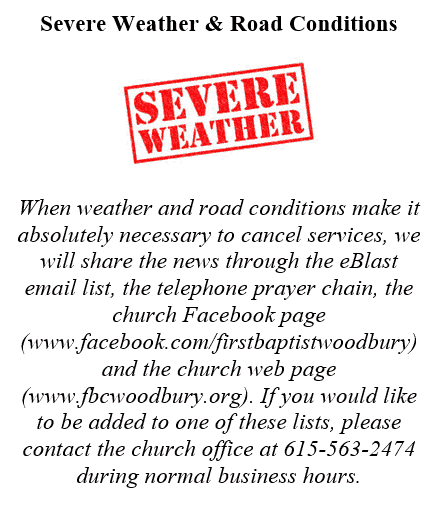 Severe Weather & Road Condition Information