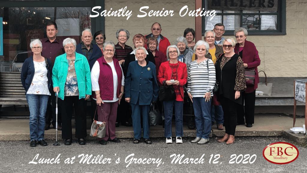 Saintly Senion Outing - 3-12-2020